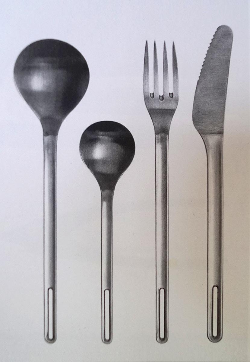 Besteck M 140 Modell, Neuauflage, 1974, Entwurf Lutz Rudolph. Foto: Georg Eckelt