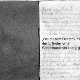 Vor der Serienproduktion des Bestecks lag in der Industriewarenabteilung des HO-Kaufhauses II in Halle (Markt 3-7) ein Testbuch aus. Darin wurden Meinungen über die Gestaltung gesammelt.