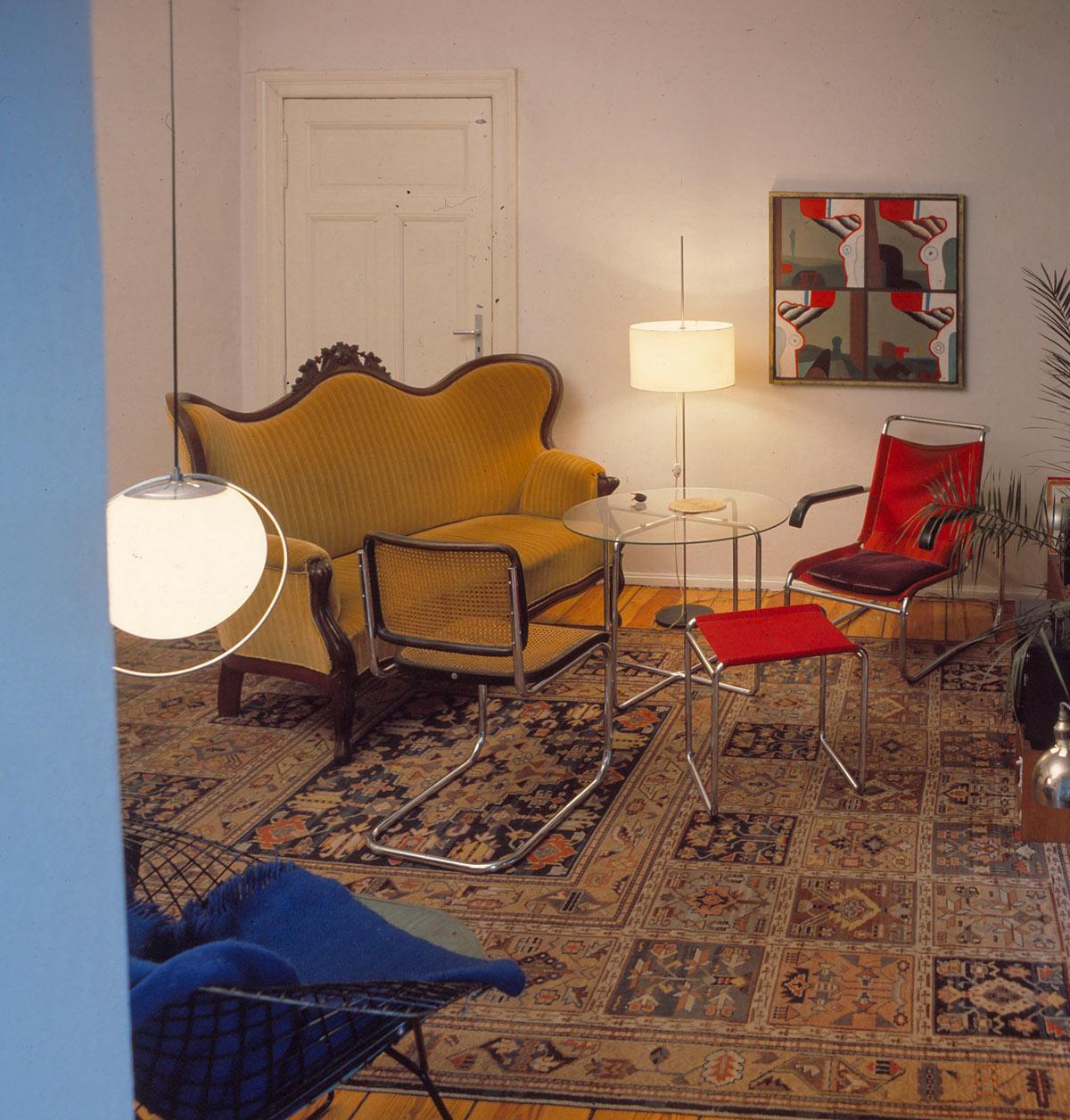 Lutz Rudolph, Wohnzimmer 70er Jahre im Atelier Kollwitzplatz.
