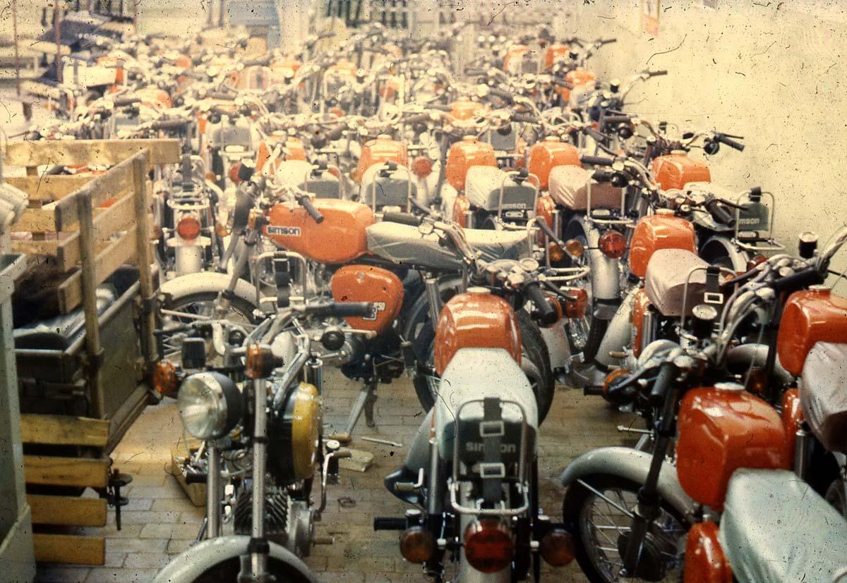 S50 Produktion ab 1974 im VEB Simson Suhl.