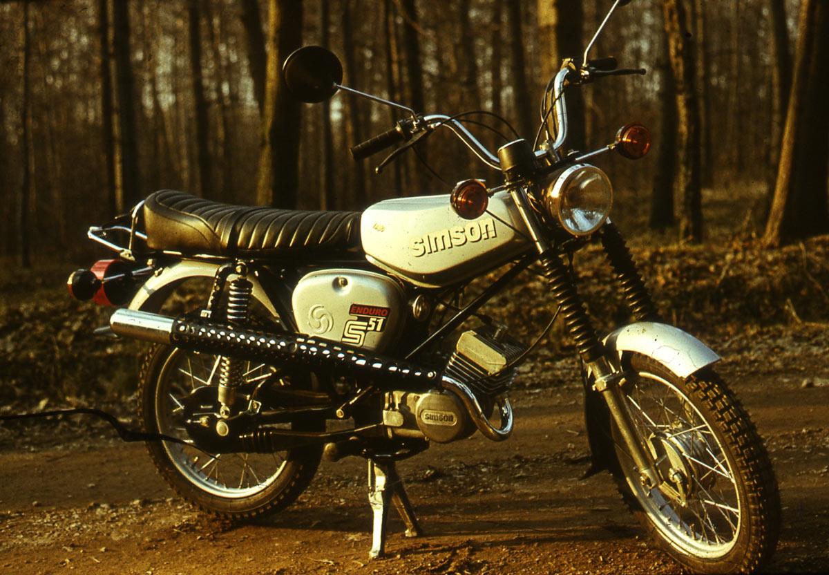 Mokick S51 Enduro, Sportliche Variante, Design Lutz Rudolph, Clauss Dietel, 1979