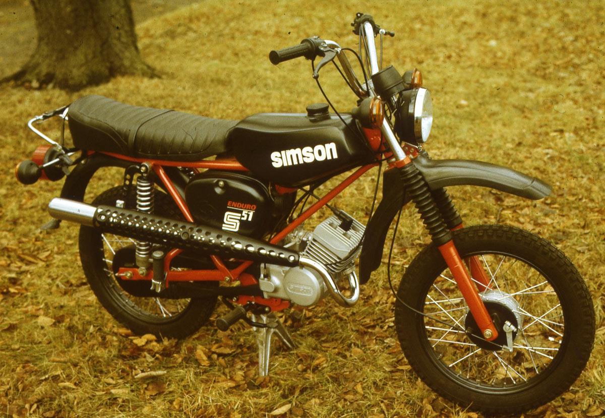 Mokick S 51 Enduro, Sportliche Variante, Design Lutz Rudolph, Clauss Dietel, 1979