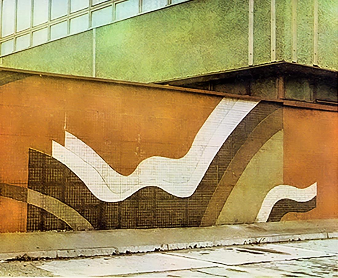 Lutz Rudolph, Fassadengestaltung des ehem. VEB Lufttechnische Anlagen, Berlin.